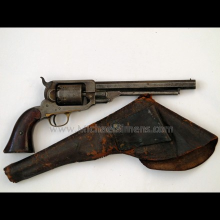 WHITNEY CIVIL WAR NAVY REVOLVER, HOLSTER