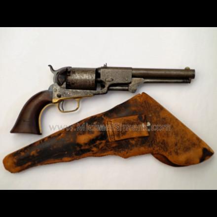 Antique Colt Dragoon Revolver, 4-Screw Cut for Stock, Civil War Revolver
