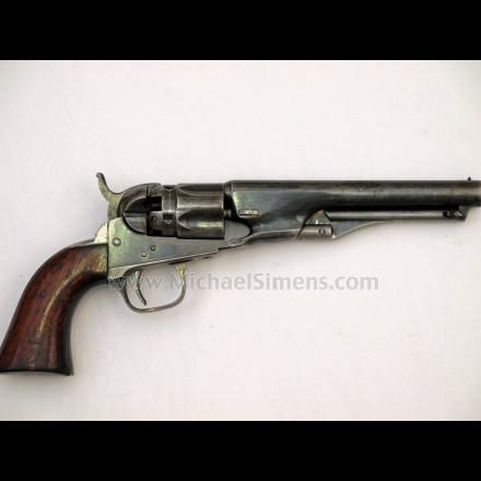 COLT 1862 POLICE REVOLVER WITH RARE IRON STRAPS
