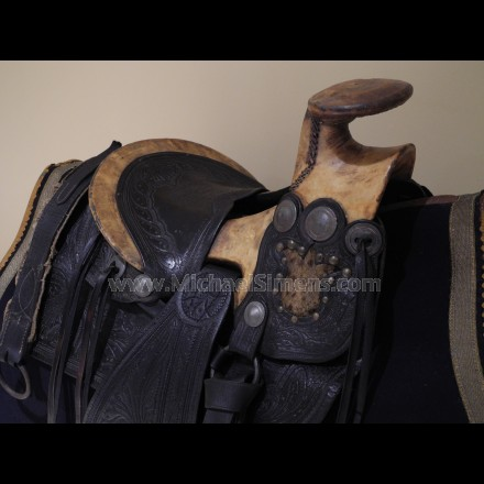 CONFEDERATE CIVIL WAR OFFICER'S SADDLE