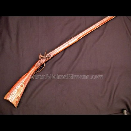 """GOLDEN AGE"" KENTUCKY RIFLE, FLINTLOCK."
