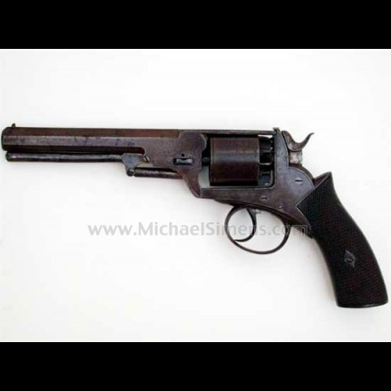 BRITISH WEBLEY REVOLVER, CONFEDERATE ISSUE.
